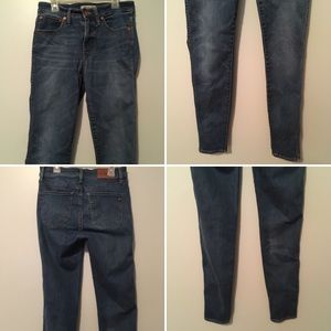 """Madewell Jeans - Madewell Tall 9"""" High-Rise Skinny Patty Wash 27T"""